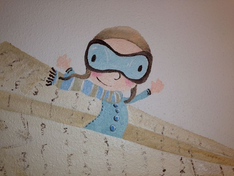 Bgoph, Un viaje de papel. pintura mural.