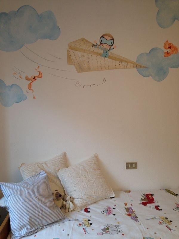Pintura mural el viaje de papel bgoph y colorincolorado for Murales de papel para pared
