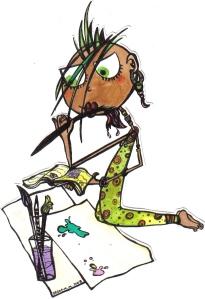 ilustración tinta artista africana