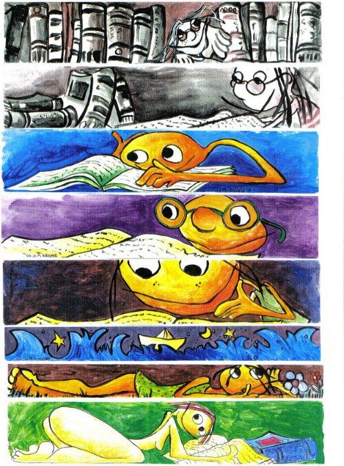 Bgoph, Marcapáginas, ilustraciones, dibujos. Acuarela