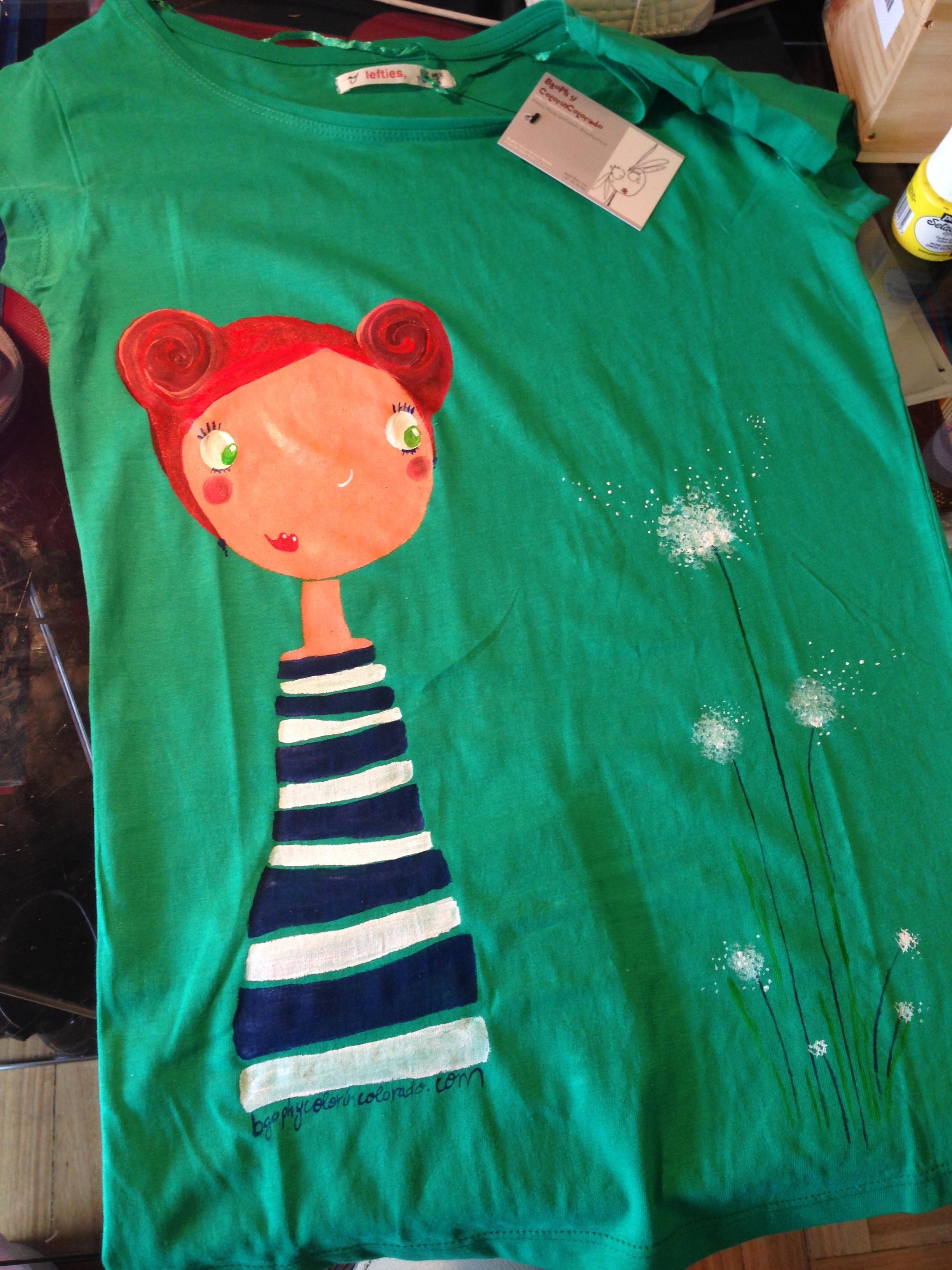 Begoña Pérez-Herrera Moreno, bgophycolorincolorado, ropa pintada a mano, ilustración