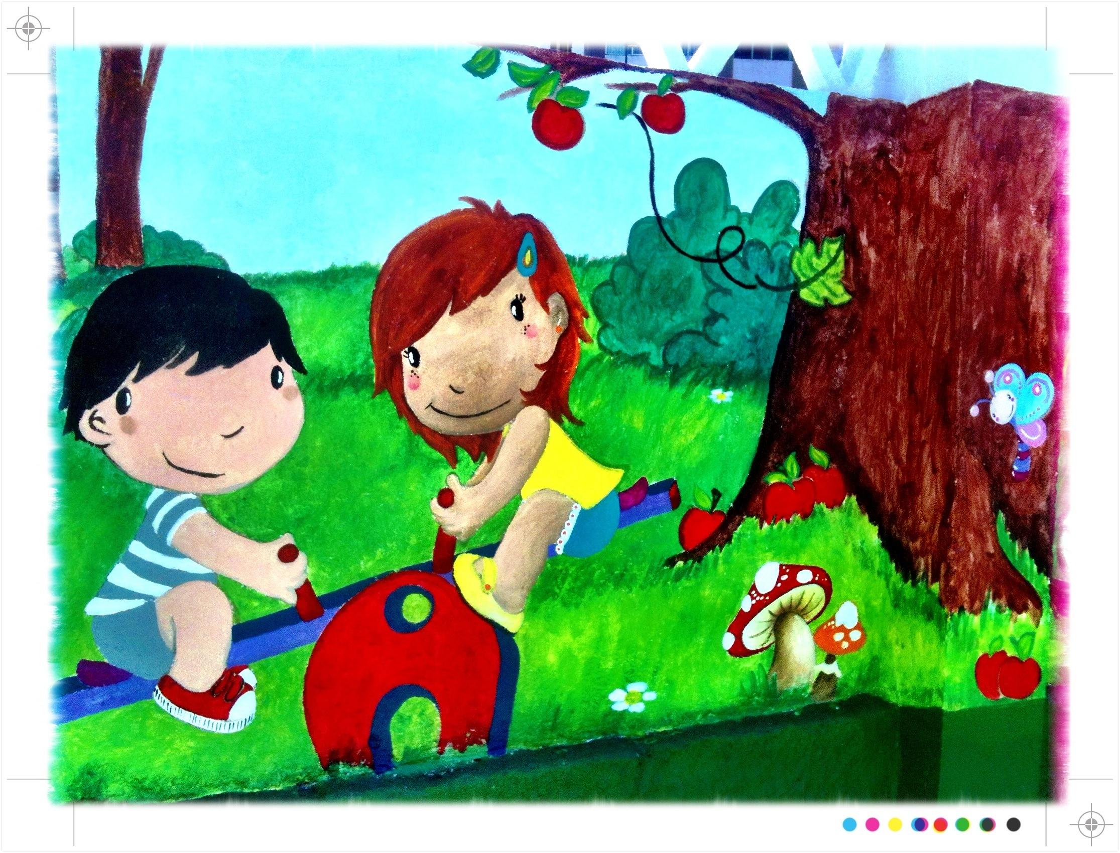 pintura mural, escuela infantil pitufos, vigo, galicia, begoña pérez-herrera moreno, bgophycolorincolorado.jpg