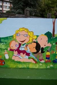 Pintura mural, guardería, begoña pérez-herrera moreno, niños, bgophycolorincolorado, galicia, vigo