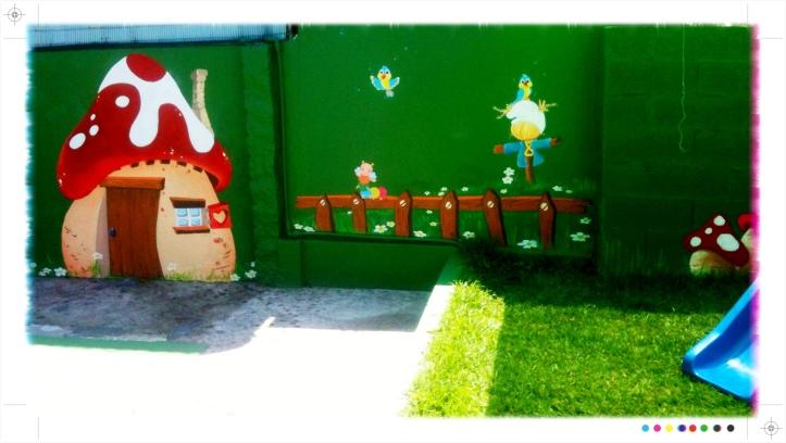 pintura mural pitufos, bgophycolorincolorado