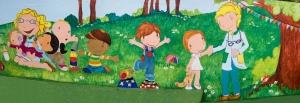 pintura mural escuela infantil, guardería, bgophycolorincolorado, begoña pérez-herrera moreno, vigo, galicia