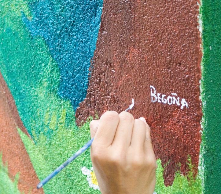 pintura mural, vigo, begoña pérez-herrera moreno