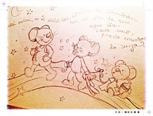 boceto para pintura mural, dormitorio infantil, vigo, begoña pérez-herrera moreno