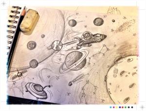 """Ilustración, Proyecto Pintura Mural """"El Espacio"""" Begoña Pérez-Herrera Moreno"""