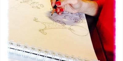dibujando,ilustración, boceto, estudio para Pintura Mural Circo, Begoña Pérez-Herrera Moreno,Vigo