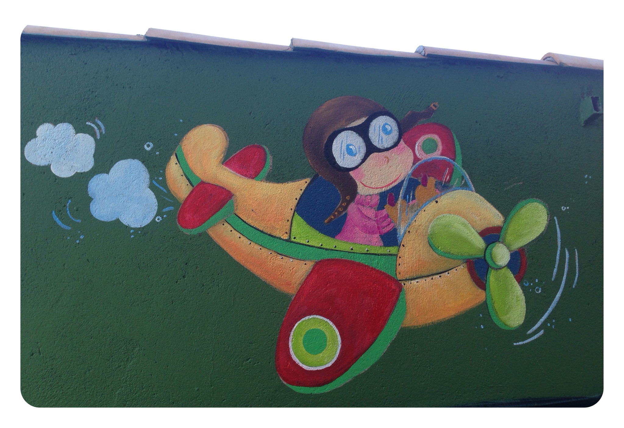 Pintura Mural, Avioneta, bgophycolorincolorado, Begoña Pérez-Herrera Moreno