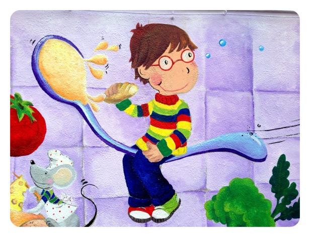 ilustraciòn begoperezherrera, fragmento pintura mural,  bgophycolorincolorado.com
