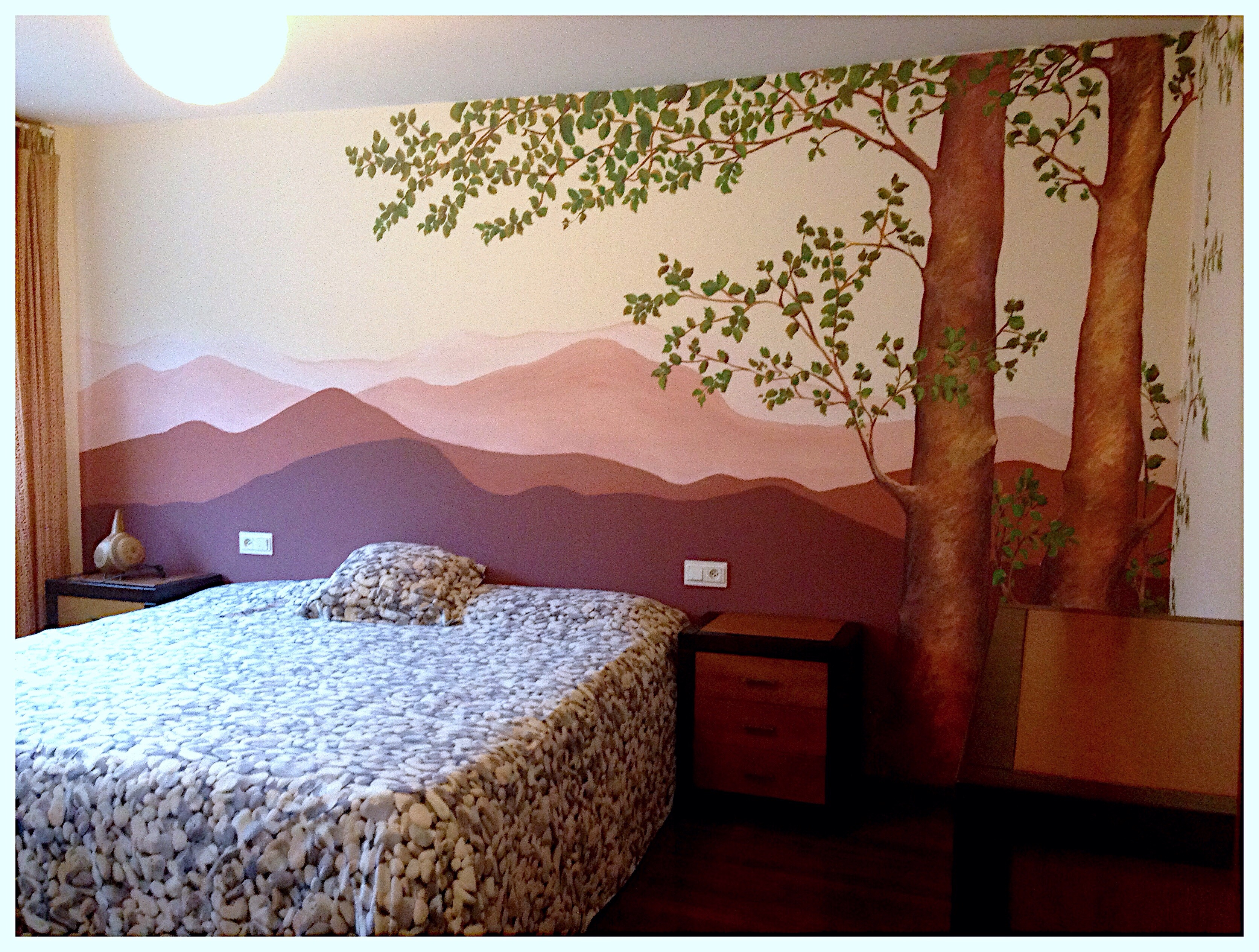 Mural dormitorio. www.begoperezherrera.com