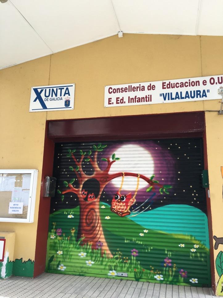 graffiti Verja principal EEI.VilaLaura,Vigo. www.bgophycolorincolorado.com