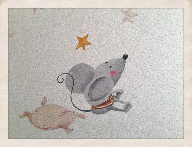 Ratoncillo escuchando un cuento..., raton, bgophycolorincolorado
